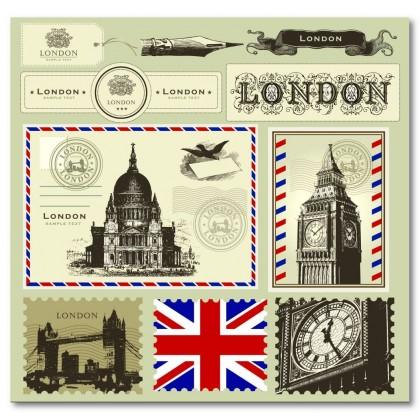Αφίσα (Λονδίνο, σημαία, γράμμα, θέα, αρχιτεκτονική)
